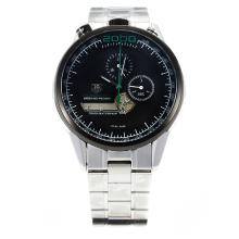 Tag Heuer Mikrogirder 2000 PVD Bisel Con Negro Dial-Green Needle