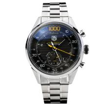 Tag Heuer 1000 Mikrotimer Automático Con Dial Negro S / S-Yellow Marker