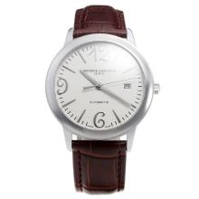 Vacheron Constantin Swiss ETA 2836 Movement with White Dial-Leather Strap