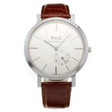 Piaget Altiplano Automatic with White Dial-Leather Strap-1