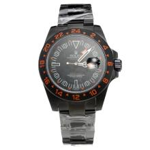 Rolex Explorer II Automatic Full PVD with Black Dial-Orange Markers
