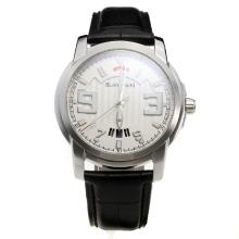 Blancpain MIYOTA 9015 Automatic Movement with White Dial-Leather Strap