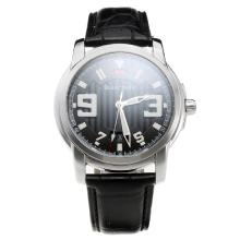 Blancpain MIYOTA 9015 Automatic Movement with Black Dial-Leather Strap
