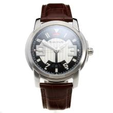 Blancpain with White/Black Dial-Leather Strap
