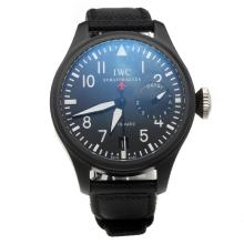IWC Big Pilot Top Gun Swiss ETA 2836 Movement Ceramic Case with Black Dial-Nylon Strap