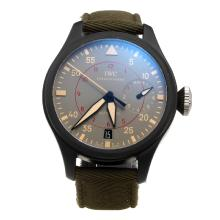 IWC Big Pilot Top Gun Swiss ETA 2836 Movement Ceramic Case with Gray Dial-Nylon Strap