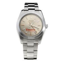 Rolex Milgauss Automatic with Gray Dial S/S-Sapphire Glass