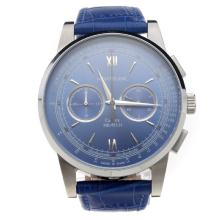 Montblanc Meisterstück Working Chronograph With Blue Dial and Blue Strap-2