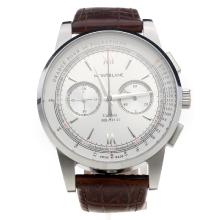 Montblanc Meisterstück Working Chronograph With White Dial-1