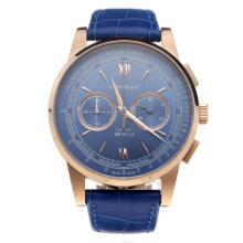 Montblanc Meisterstück Working Chronograph With Blue Dial and Blue Strap