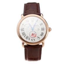 Cartier Rotonde De Cartier Watch With Rose Gold Case And White Dial