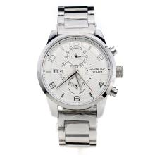 Montblanc Time Walker Automatic with White Dial S/S