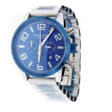 Montblanc Time Walker Working Chronograph Blue Bezel With Blue Dial