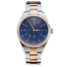 Rolex Cellini Automatic Two Tone with Blue Dial-Stick Markings