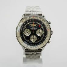 Breitling Navitimer Working GMT Chronograph Asia 7751 Movement with Black Dial S/S
