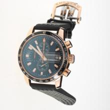 Chopard Grand Prix De Monaco Historique Working Chronograph Rose Gold Case with Black Dial-Rubber Strap