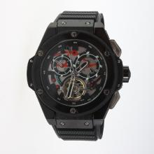 Hublot Big Bang Automatic PVD Case Tourbillon with Silver Dial-Rubber Strap