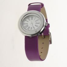 Piaget Possession White Dial with Purple Leather Strap-Lady Size