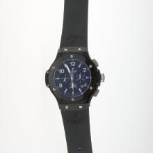 Hublot Big Bang Automatic PVD Case Ceramic Bezel with Black Carbon Fibre Style Dial-Rubber Strap