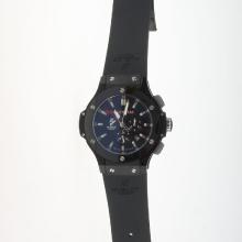 Hublot Big Bang Automatic PVD Case Ceramic Bezel with Black Dial-Rubber Strap