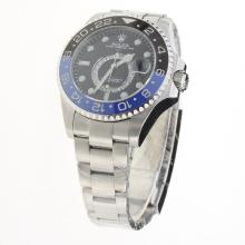 Rolex GMT Master II Automatic Black/Blue Ceramic Bezel with Black Dial S/S