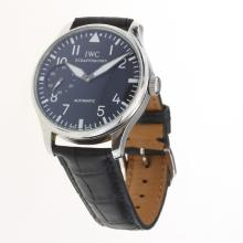 IWC Portuguese Manual Winding with Black Dial-Leather Strap-1
