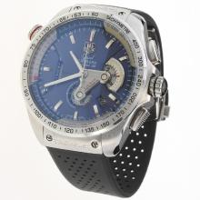 Tag Heuer Grand Carrera Calibre 36 Working Chronograph with Blue Dial-Rubber Strap