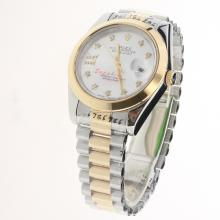 Rolex Datejust II Automatic Two Tone Diamond Markers with White Dial