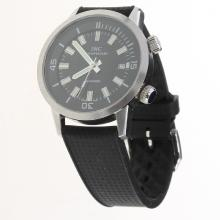 IWC Aquatimer Swiss ETA 2836 Movement with Black Dial-Rubber Strap