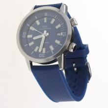 IWC Aquatimer Swiss ETA 2836 Movement with Blue Dial-Rubber Strap