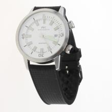 IWC Aquatimer Swiss ETA 2836 Movement with White Dial-Rubber Strap