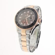 Rolex Yachtmaster Automatic Two Tone Ceramic Bezel with Brown Dial-1