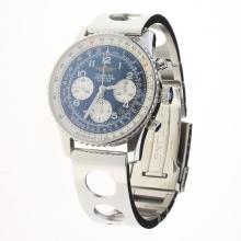 Breitling Navitimer Chronograph Swiss Valjoux 7750 Movement Number Markers with Blue Dial S/S-1