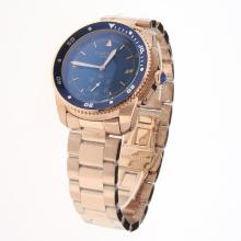 Cartier Calibre de Cartier Automatic Full Rose Gold with Blue Dial