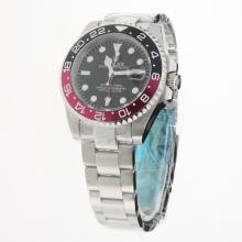 Rolex GMT Master II 2813 Movement Black/Red Ceramic Bezel with Black Dial S/S