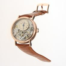 Breguet Tradition Tourbillon Automatic Rose Gold Case with Champagne Dial-Leather Strap