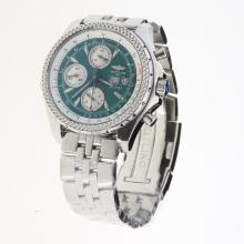 Breitling for Bentley Chronograph Swiss Valjoux 7750 Movement with Green Dial S/S