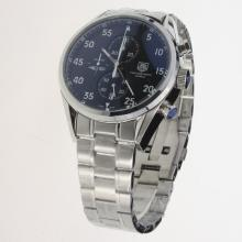 Tag Heuer Working Chronograph White Markers with Black Dial S/S