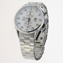 Tag Heuer Working Chronograph Black Markers with White Dial S/S