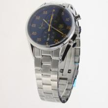 Tag Heuer Working Chronograph Orange Markers with Black Dial S/S
