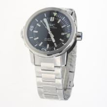 IWC Aquatimer Swiss ETA 2836 Movement with Black Dial S/S