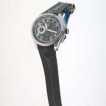 Tag Heuer Carrera CAL. HEUER 01 Working Chronograph with Black Dial-Rubber Strap