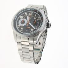 Tag Heuer Carrera CAL. HEUER 01 Working Chronograph with Black Dial S/S-1