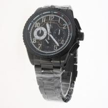 Tag Heuer Carrera CAL. HEUER 01 Working Chronograph Full PVD with Black Dial-1