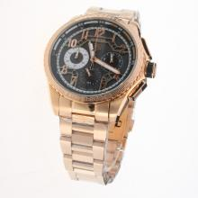 Tag Heuer Carrera CAL. HEUER 01 Working Chronograph Full Rose Gold with Black Dial