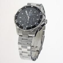 Tag Heuer Aquaracer Big Date Working Chronograph with Black Dial S/S