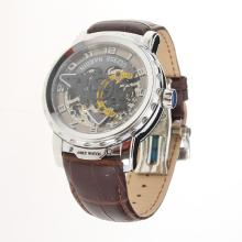 Ulysse Nardin Automatic with Skeleton Dial-Leather Strap