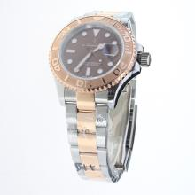 Rolex Yachtmaster Swiss ETA 2836 Movement Two Tone with Brown Dial-Same Chassis as ETA Version