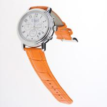 Chopard Imperiale Working Chronograph with MOP Dial-Orange Leather Strap