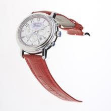 Chopard Imperiale Working Chronograph with Purple MOP Dial-Red Leather Strap